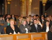 A Magyarországi Németek Országos Önkormányzatának tagjai a Parlamenti Emléknapon