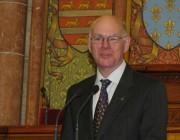 Prof. Dr. Norbert Lammert, a Budestag elnöke ünnepi köszöntőjét mondja