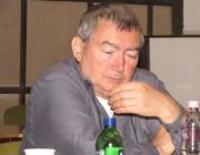 VUdAK-közgyűlés 2012-ben, tisztújítással: elnök, Schuth János (képünk), az írók szekciójának elnöke Becker Róbert, költő, a művészek szekciójának elnöke, Matzon Ákos festőművész