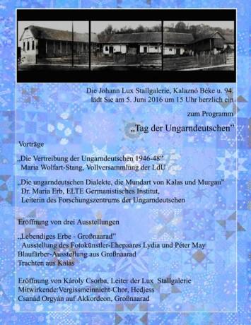 Einladung Tag der Ungarndeutschen
