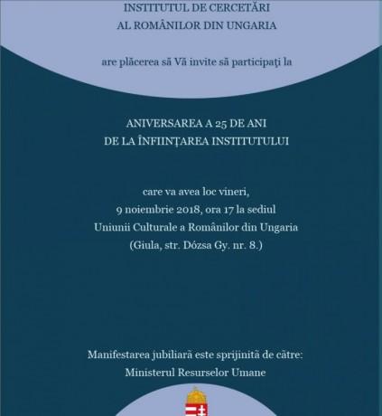 Invitatie Institut 25 de ani