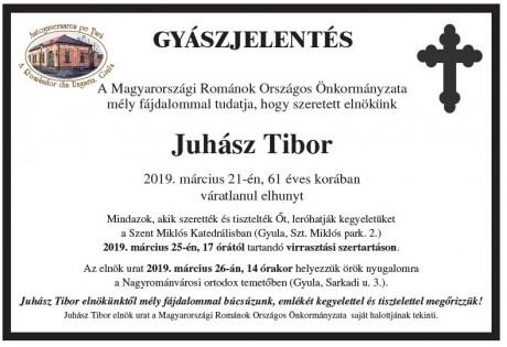 Juhász Tibor gyászjelentés