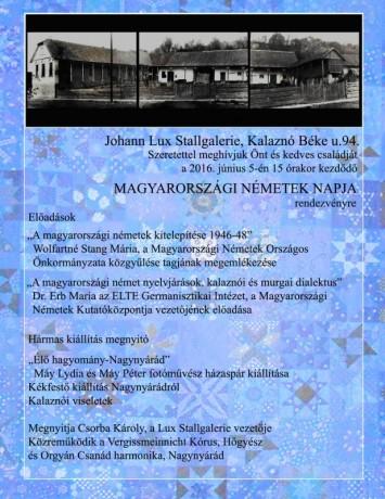 Meghívó Magyarországi Németek napja