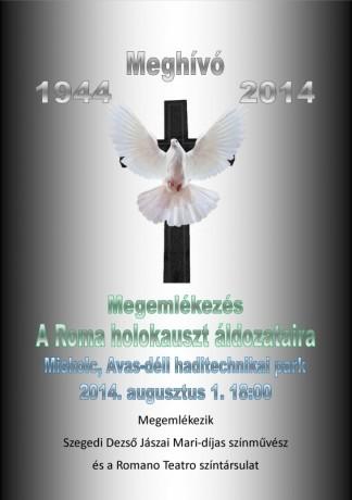 Meghívó roma holokauszt