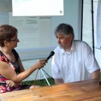 Blazsetin Branka interjút készít Horváth Csaba ügyvezető igazgatóval